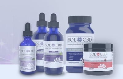 SOL✿CBD offers organic hemp derived Cannabidiol (CBD) products